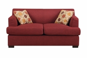 Montreal V Red Fabric Loveseat