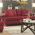 Red Fabric Loveseat