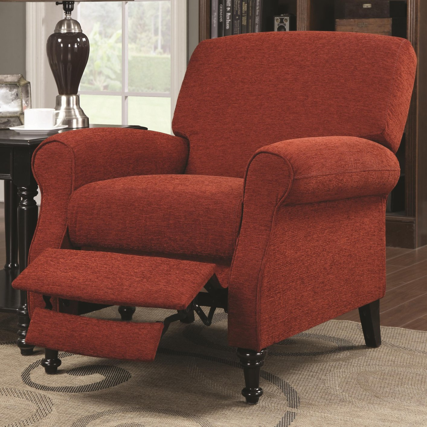 Superieur Red Fabric Reclining Chair