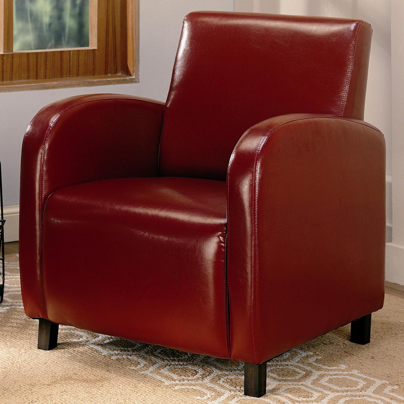 Red Leather Accent Chair Steal A Sofa Furniture Outlet Los