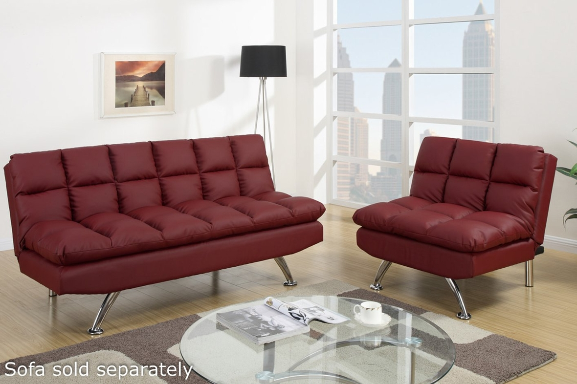 modern shelby shop red futon main double leather bed convertible cushion sofa the he sleeper