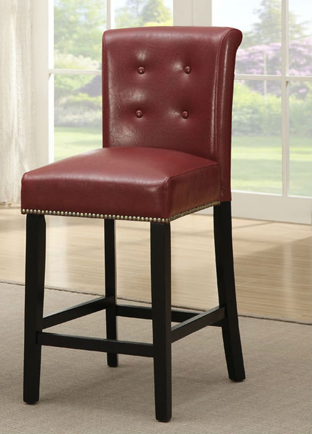 red leather dining chairs burgundy red leather dining chair stealasofa furniture outlet los angeles ca