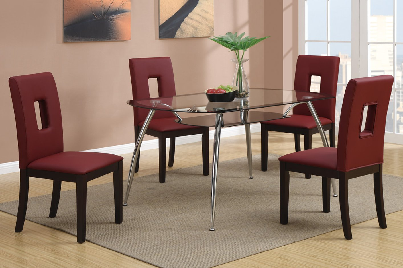 red leather dining chairs chrome leg red leather dining chair stealasofa furniture outlet los angeles ca