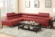 Caris Red Metal Sectional Sofa