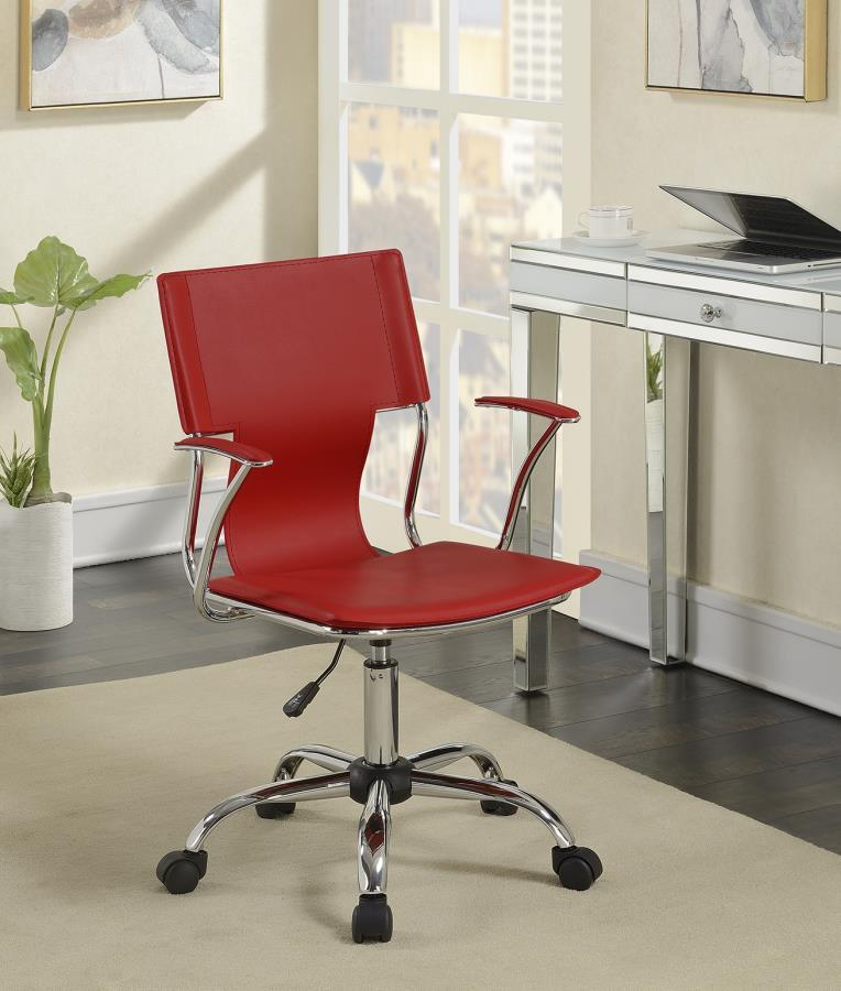 Pvc Office Furniture ~ Red plastic office chair steal a sofa furniture outlet