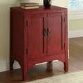 Red Wood Accent Cabinet