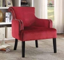 Red Wood Accent Chair