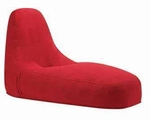 Red Wood Chaise Lounge