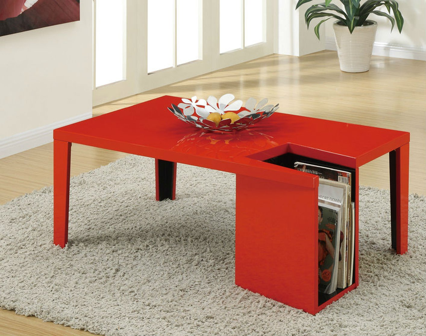 Red Wood Coffee Table Steal A Sofa Furniture Outlet Los Angeles CA