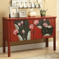 Red Wood Console Table