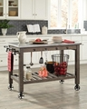 Red Wood Kitchen Island