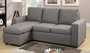 Akeneo Grey Fabric Sectional Sofa