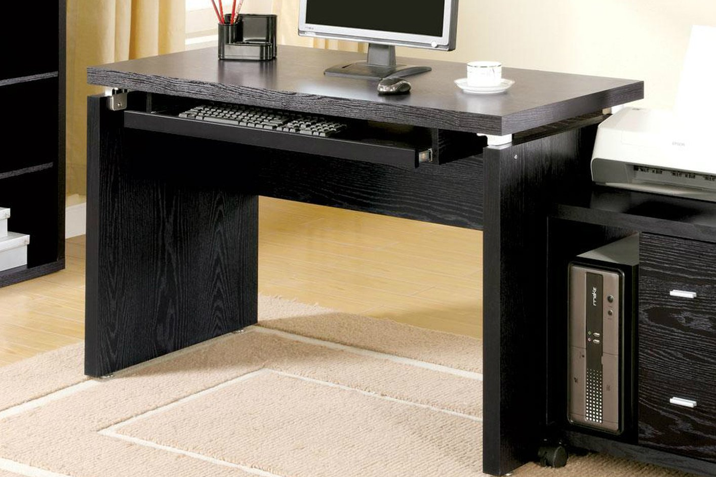 Black Wood Computer Desk