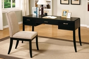 Black Fabric Writing Desk Set