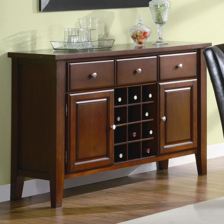 Top Server W Wine Rack: Steal-A-Sofa Furniture Outlet Los