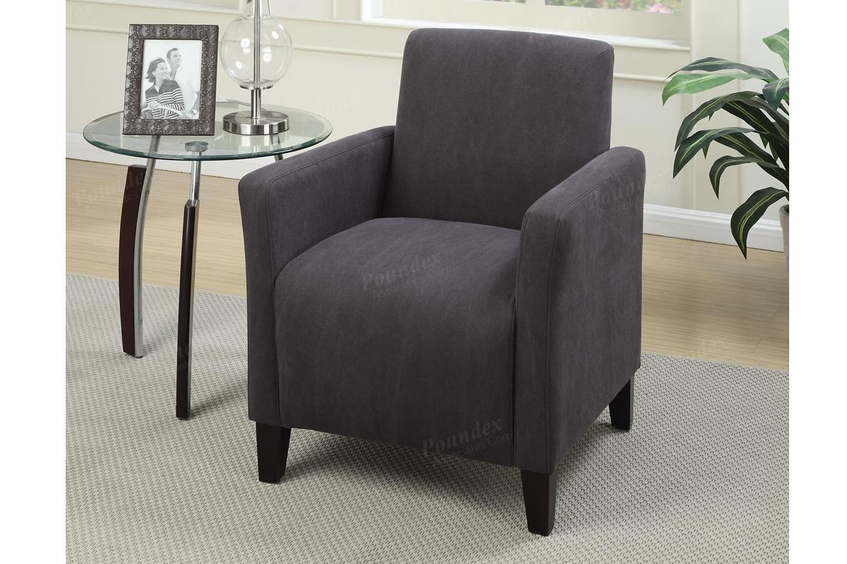 Romulus Grey Fabric Accent Chair