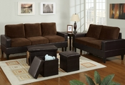 Roni Sofa, Loveseat and Ottoman Set