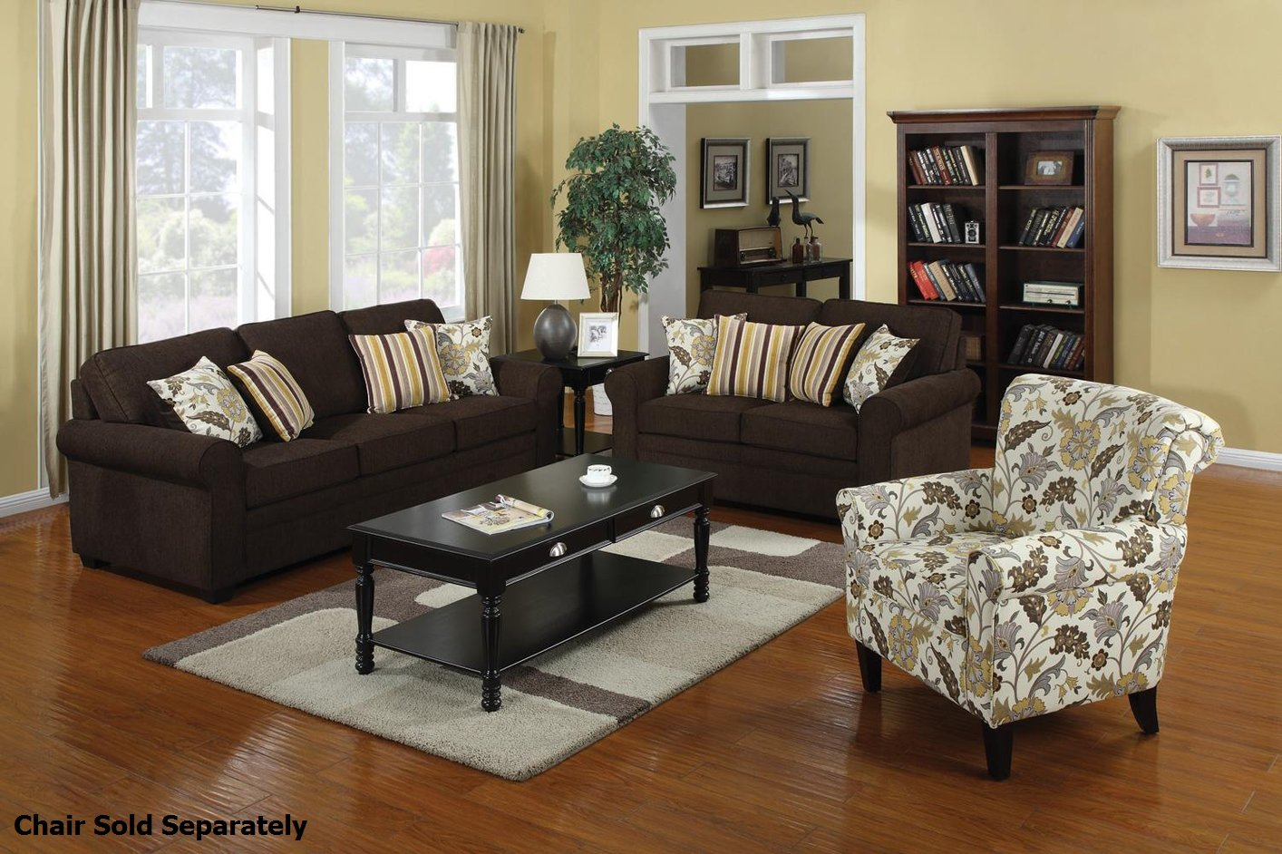 Exceptionnel Rosalie Brown Fabric Sofa And Loveseat Set
