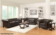 Roy Brown Leather Sofa and Loveseat Set