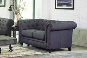 Roy Grey Fabric Loveseat