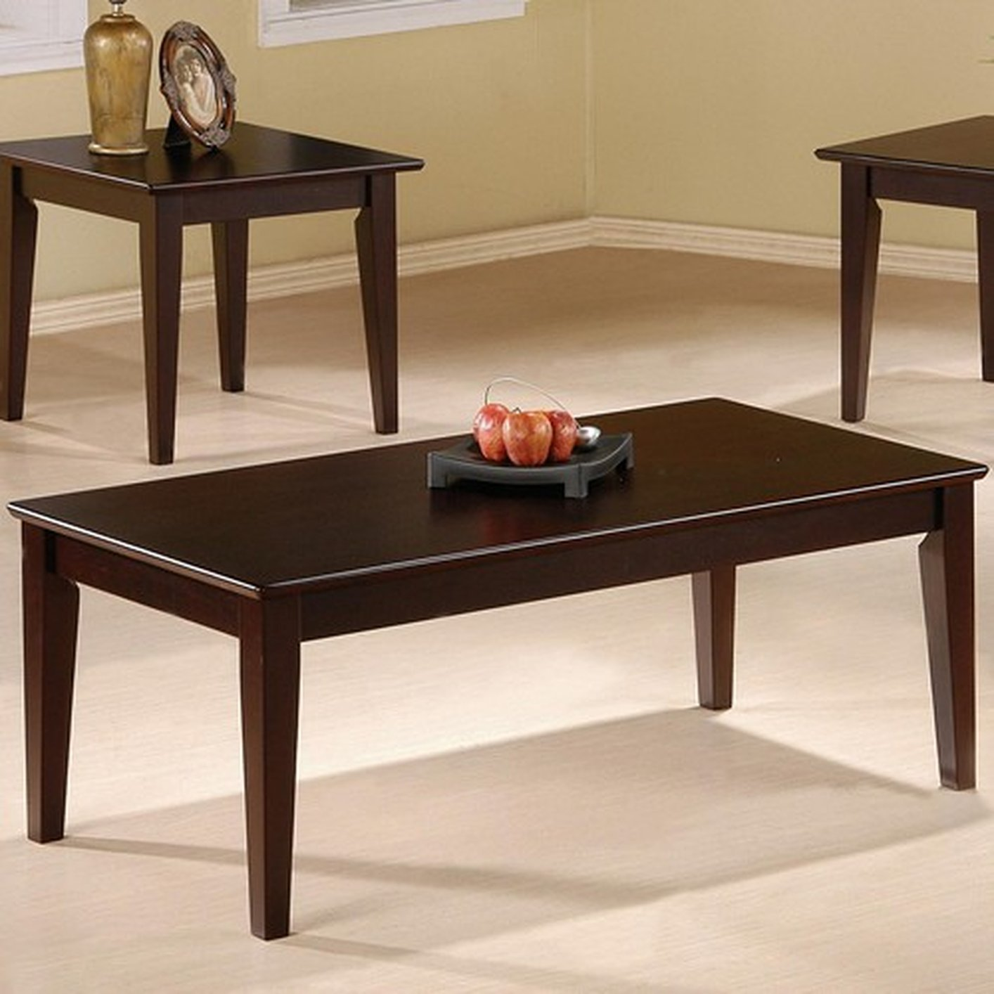 Coaster Rupard 5880 Brown Wood Coffee Table Set Steal A Sofa Furniture Outlet Los Angeles Ca