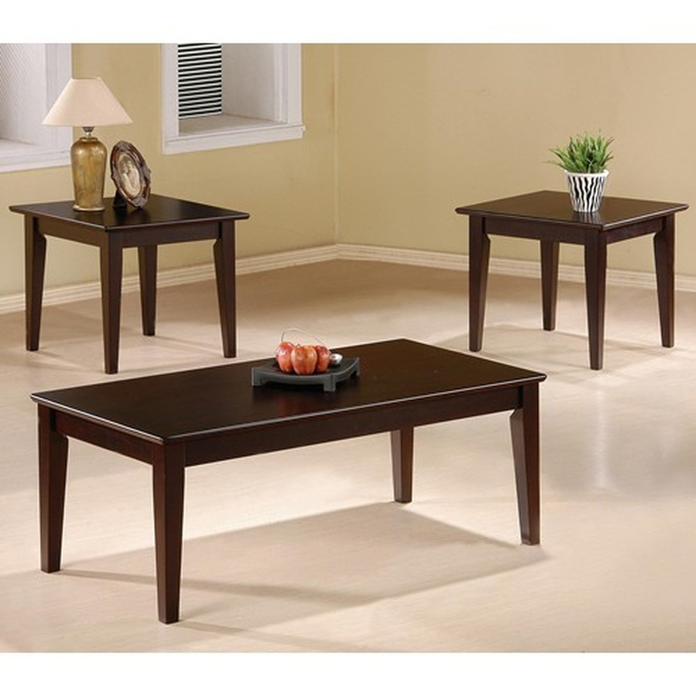 cce70b147b235 Brown Wood Coffee Table Set - Steal-A-Sofa Furniture Outlet Los Angeles CA