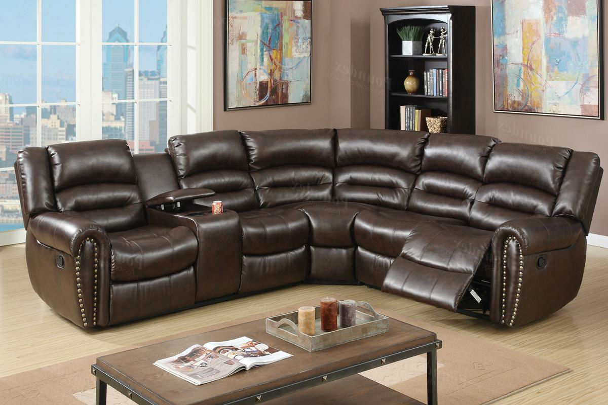 Brown Leather Reclining Sectional Steal A Sofa Furniture Outlet