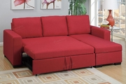 Samo Red Fabric Sectional Sofa Bed