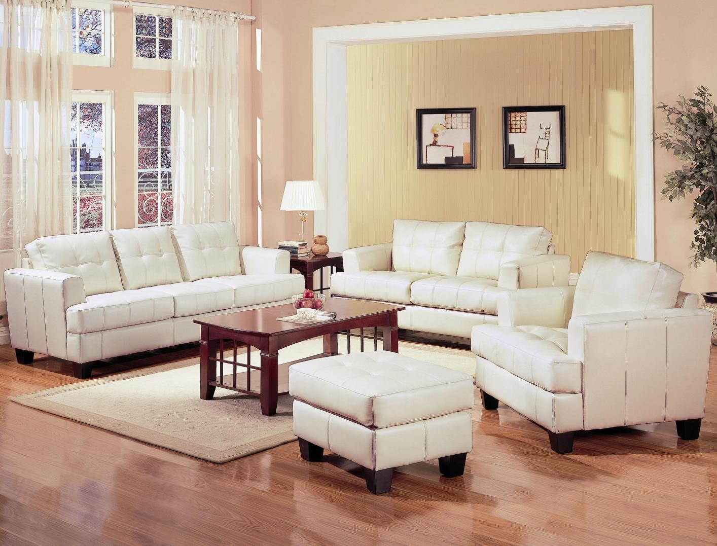 Samuel Beige Leather Sofa Samuel Beige Leather Sofa ...