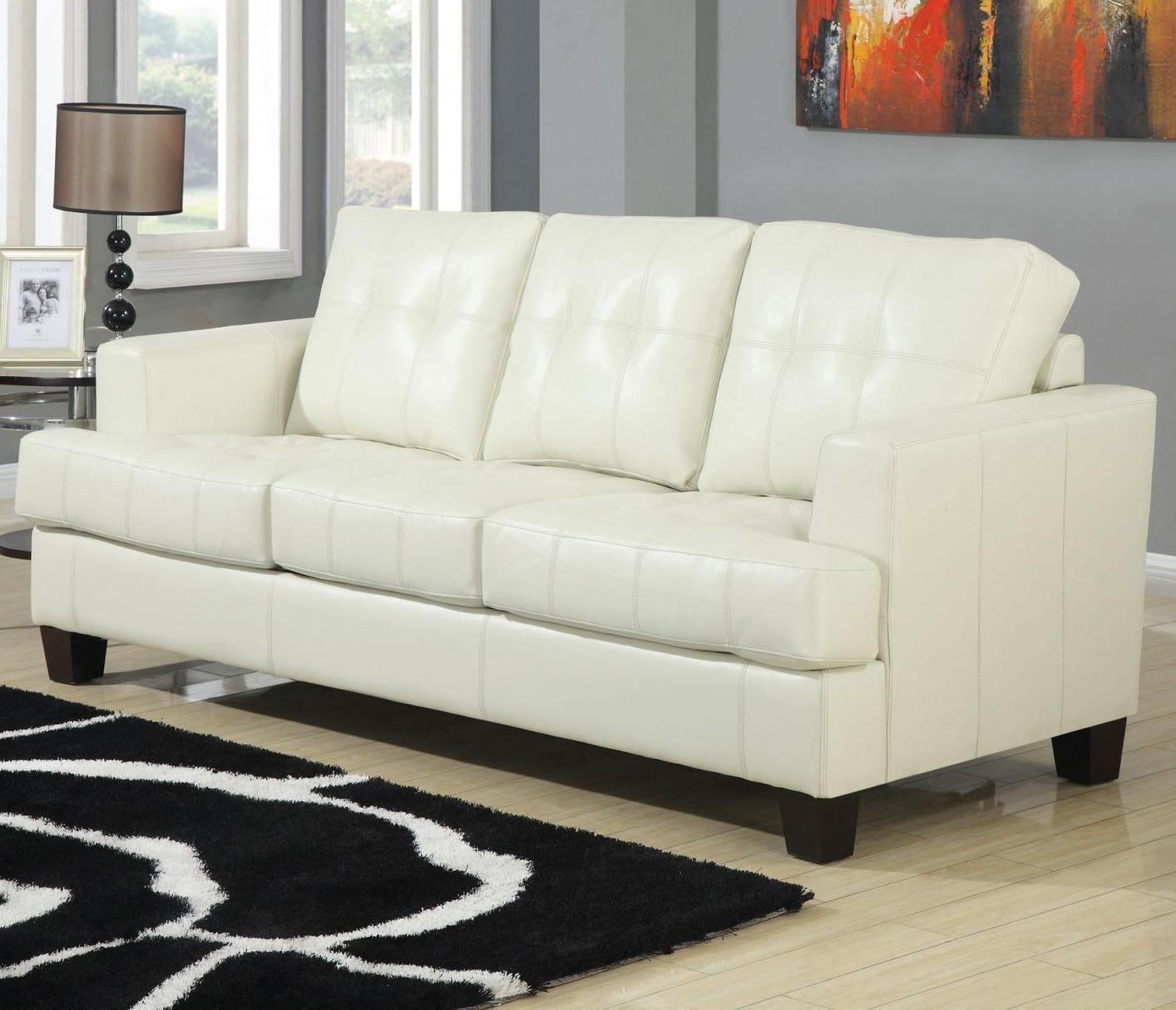 Exceptionnel Samuel Beige Leather Sofa Bed Samuel Beige Leather Sofa Bed ...