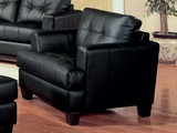 Samuel Black Leather Chair
