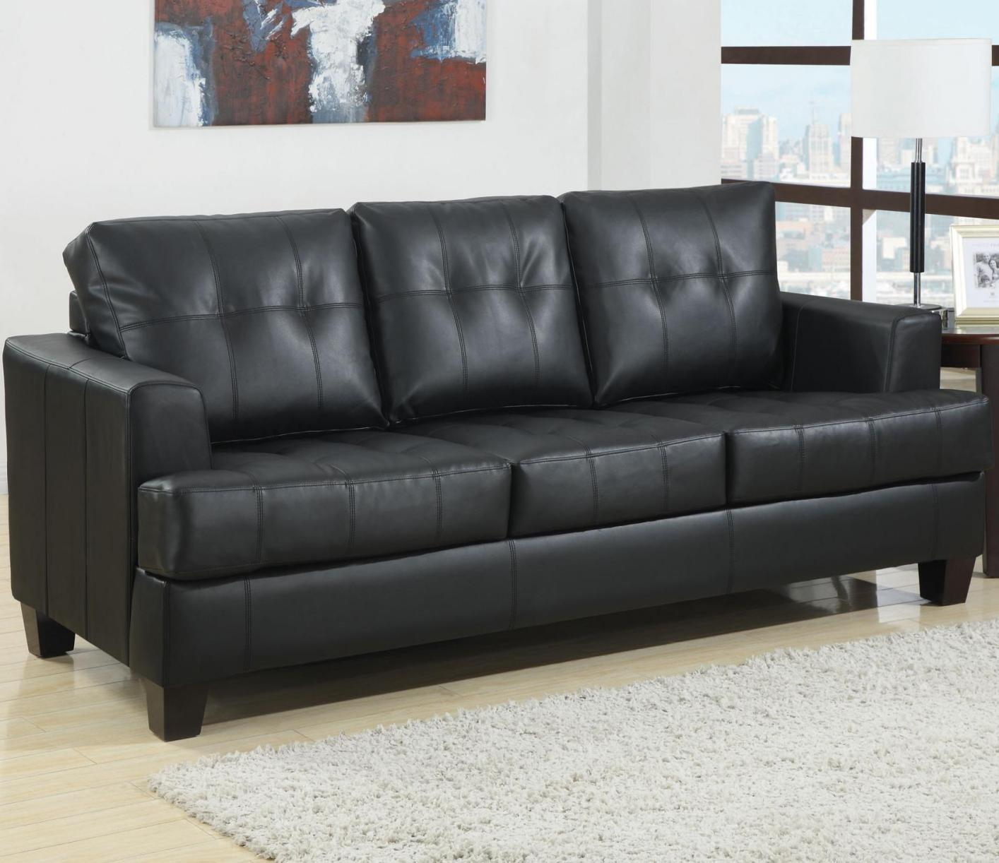 Marvelous Samuel Black Leather Sofa Bed Samuel Black Leather Sofa Bed ...