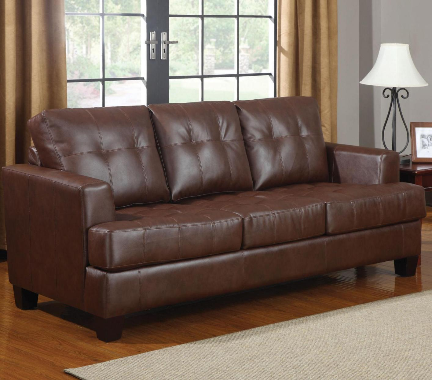 Samuel Brown Leather Sofa Bed Samuel Brown Leather Sofa Bed ...