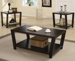 Samuel Brown Wood Coffee Table Set