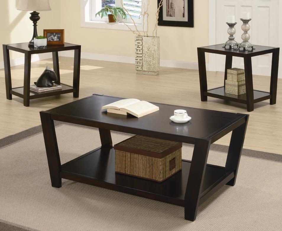 Coaster Samuel 701510 Brown Wood Coffee Table Set Steal