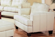 Samuel Beige Leather Chair