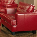 Samuel Red Leather Chair