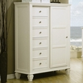 Sandy Beach White Wood Chest Of Drawer