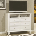 White Wood Media Chest