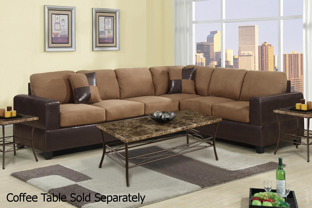 Playa Brown Leather Sectional Sofa