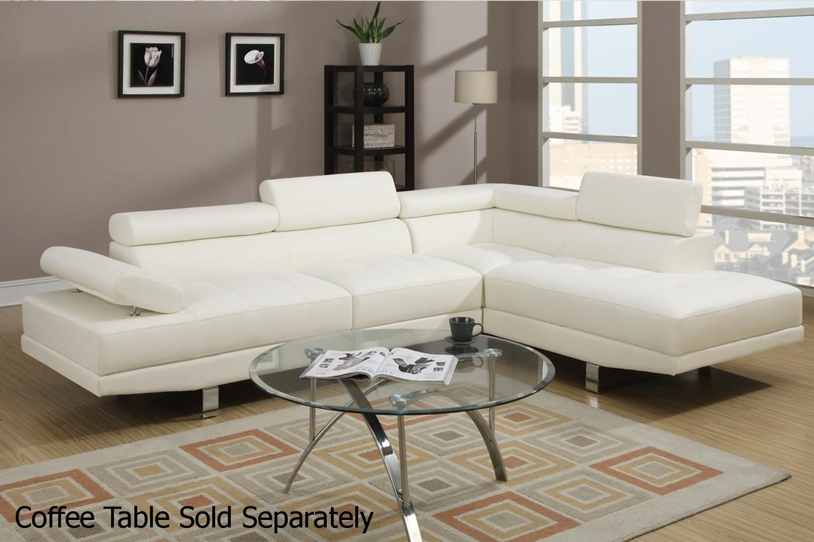 White Metal Sectional Sofa - Steal-A-Sofa Furniture Outlet Los ...