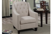 Sentil Beige Fabric Accent Chair