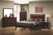 Serenity Rich Merlot Wood Queen Bed Set