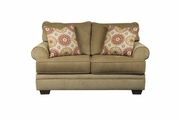 Sevan Sand Beige Fabric Loveseat
