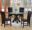 Shoemaker Deep Cappuccino Wood And Glass Dining Table