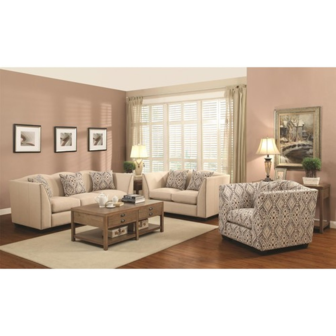Siana Beige Fabric Accent Chair Steal A Sofa Furniture Outlet