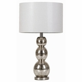 Silver Fabric Table Lamp
