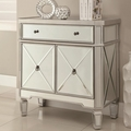 Silver Wood Accent Cabinet