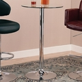 Silver Glass Bar Table