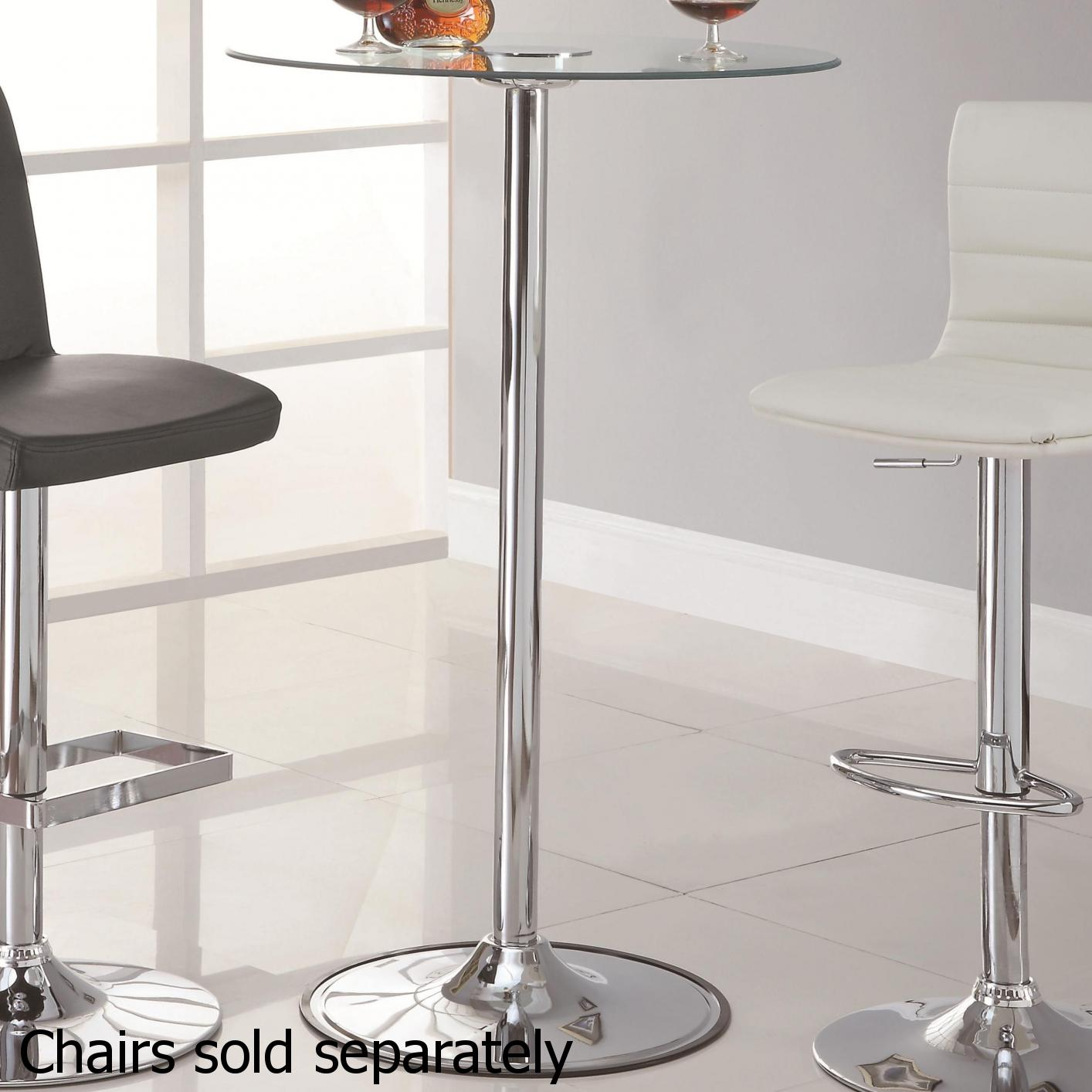 Clear Furniture Inside Clear Metal Bar Table Stealasofa Furniture Outlet Los Angeles Ca